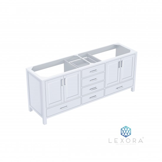 """Jacques 80"""" White Vanity Cabinet Only"""