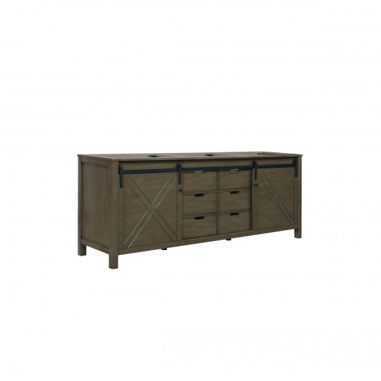 """Marsyas 84"""" Rustic Brown Vanity Cabinet Only"""