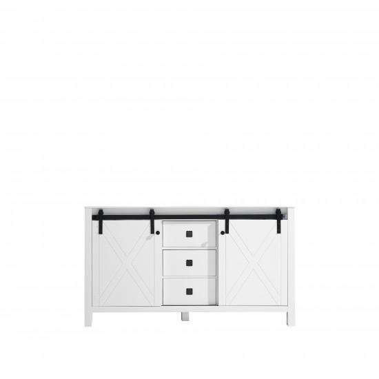"Marsyas Veluti 60"" White Vanity Cabinet Only"