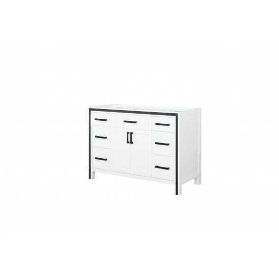 "Ziva 48"" White Vanity Cabinet Only"