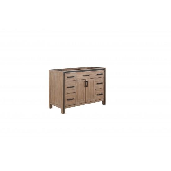 """Ziva 48"""" Rustic Barnwood Vanity Cabinet Only"""