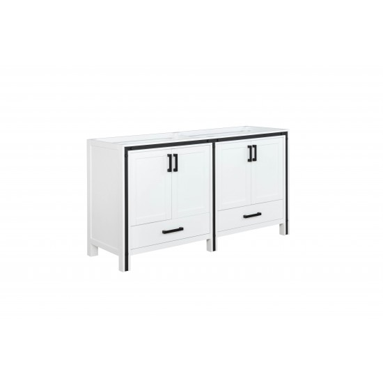 "Ziva 60"" White Vanity Cabinet Only"