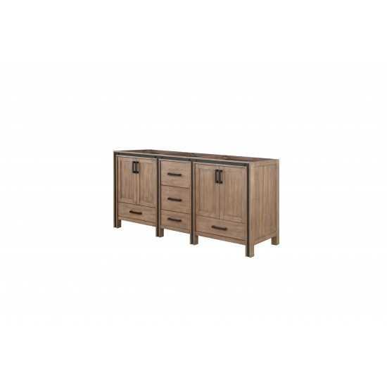 """Ziva 72"""" Rustic Barnwood Vanity Cabinet Only"""