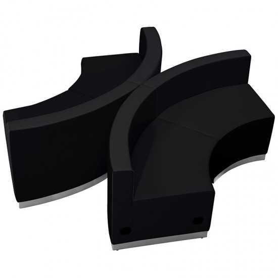 Black LeatherSoft Reception Configuration, 4 Pieces