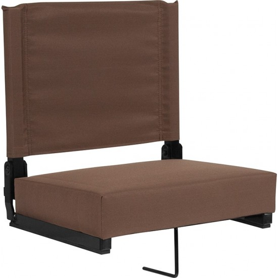 500 LB. Weight Capacity Lightweight Aluminum Frame and Ultra-Padded Seat in Brown