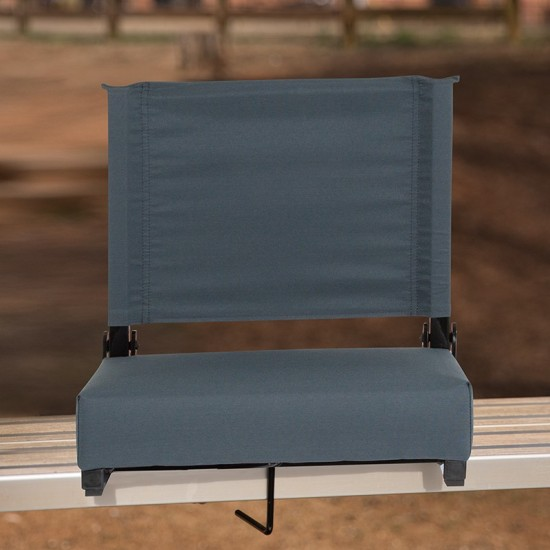 500 LB. Weight Capacity Lightweight Aluminum Frame and Ultra-Padded Seat in Dark Blue