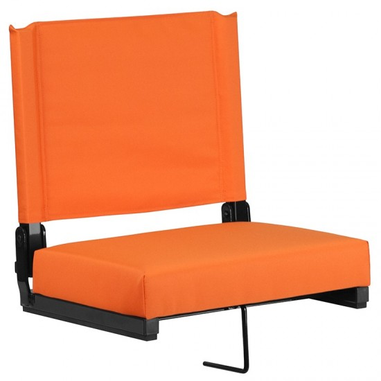 500 LB. Weight Capacity Lightweight Aluminum Frame and Ultra-Padded Seat in Orange