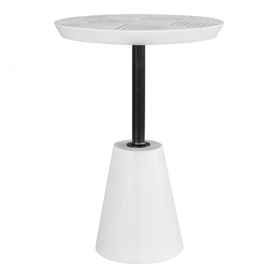 FOUNDATION OUTDOOR ACCENT TABLE WHITE