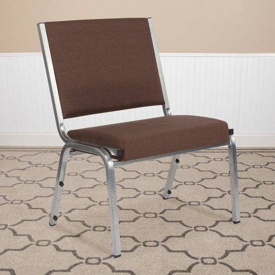 1500 lb. Rated Brown Antimicrobial Fabric Bariatric Medical Reception Chair