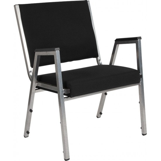1500 lb. Rated Black Antimicrobial Fabric Bariatric Medical Reception Arm Chair