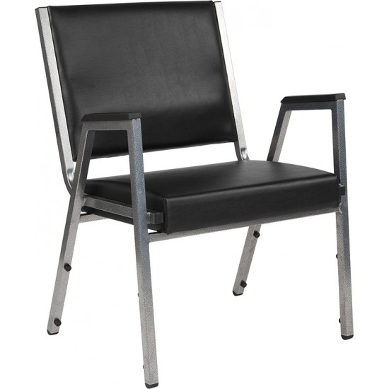 1500 lb. Rated Black Antimicrobial Vinyl Bariatric Medical Reception Arm Chair
