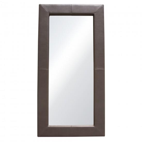 Luxe Free-Standing Mirror w/ Locking Easel Mechanism in Elephant Grey PU by Diamond Sofa