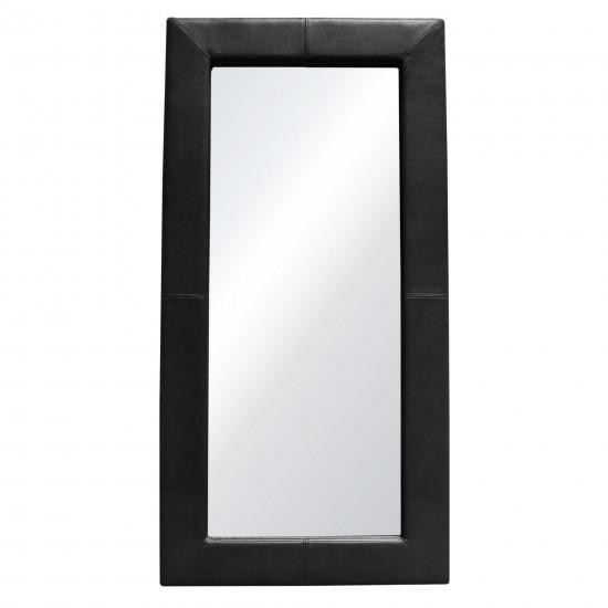 Luxe Free-Standing Mirror w/ Locking Easel Mechanism in Black PU by Diamond Sofa