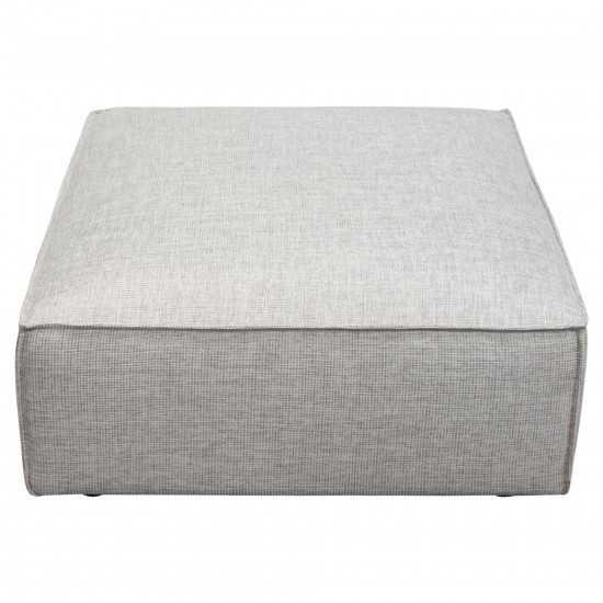Vice Square Ottoman in Barley Fabric by Diamond Sofa