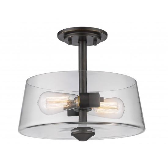 Z-Lite 2 Light Semi Flush Mount