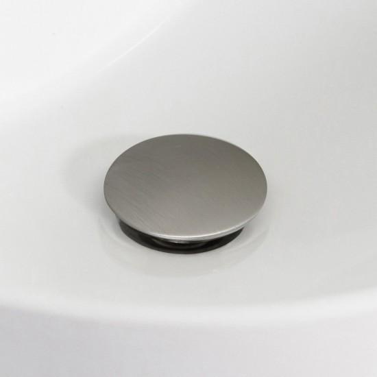 2.6-in. W Stainless Steel Bathroom Sink Drain With Overflow In Brushed Nickel