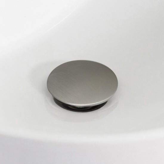 2.6-in. W Stainless Steel Bathroom Sink Drain In Brushed Nickel