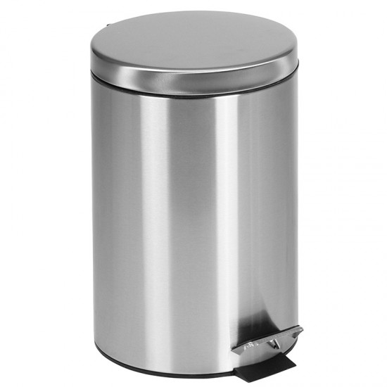 Stainless Steel Fingerprint Resistant Soft Close, Step Trash Can - 12L (3.2 Gallons)