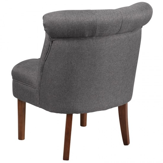 Gray Fabric Tufted Chair