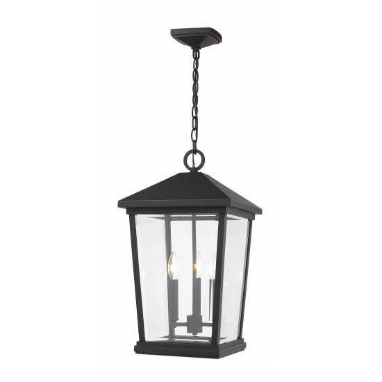 Z-Lite 3 Light Outdoor Chain Mount Ceiling Fixture