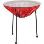 """ALFI Brand AB1717DI-BLA Black 17"""" Drop-In Round Granite Composite Kitchen Prep Sink"""