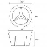 16.5-in. W Round Undermount Sink Set In White - Black Hardware