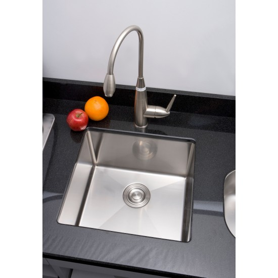 18-in. W CSA Approved Stainless Steel Kitchen Sink With Stainless Steel Finish And 18 Gauge