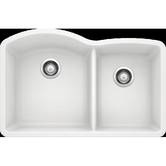 Diamond 1-3/4 Bowl Undermount, White