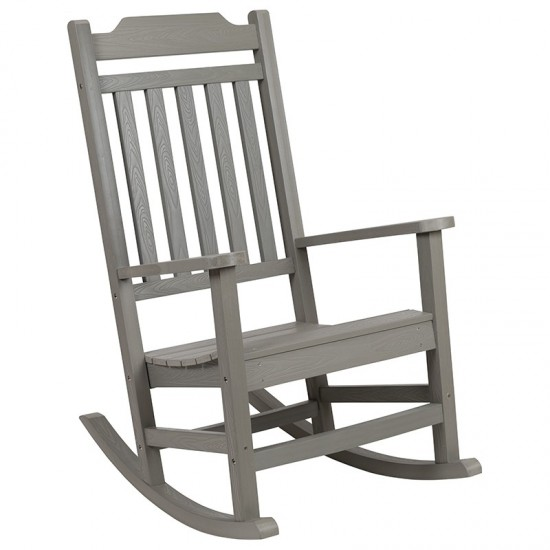 Winston All-Weather Rocking Chair in Gray Faux Wood