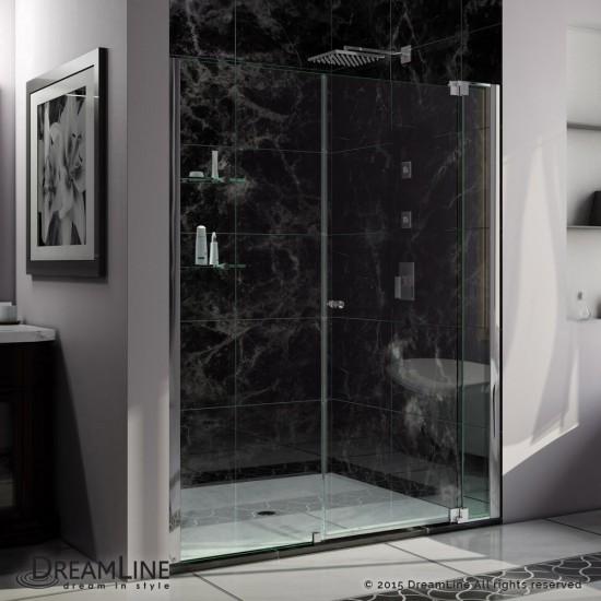 Allure 57-58 in. W x 73 in. H Frameless Pivot Shower Door in Chrome