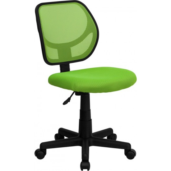 Low Back Green Mesh Swivel Task Office Chair