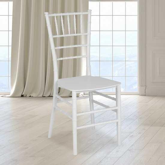 White Resin Stacking Chiavari Chair