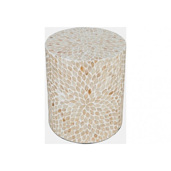 Global Archive Small Terrazzo Capiz Shell Accent Table
