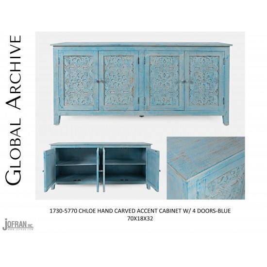 Chloe 4 Door Accent Cabinet
