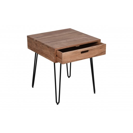 Rollins Solid Acacia End Table