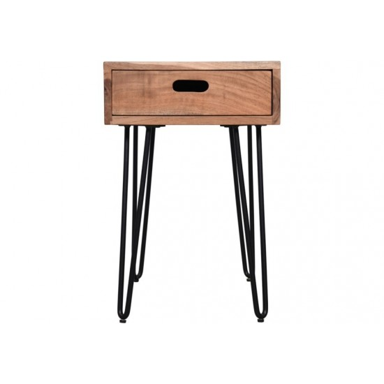 Rollins Solid Acacia Side Table