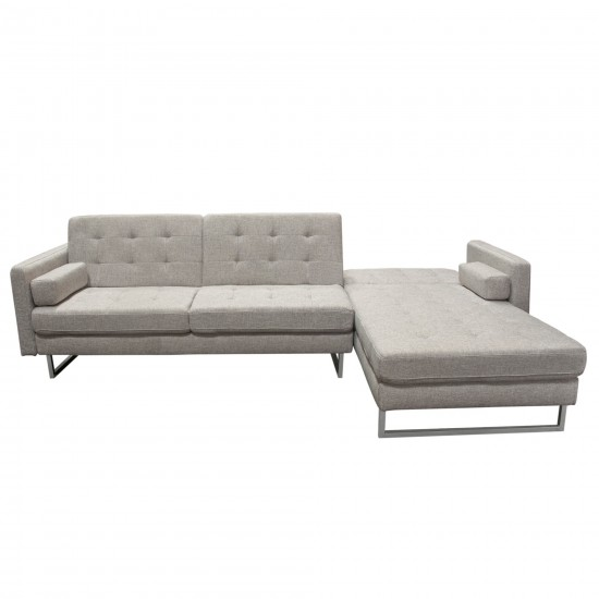 Opus Convertible Tufted RF Chaise Sectional by Diamond Sofa - BARLEY