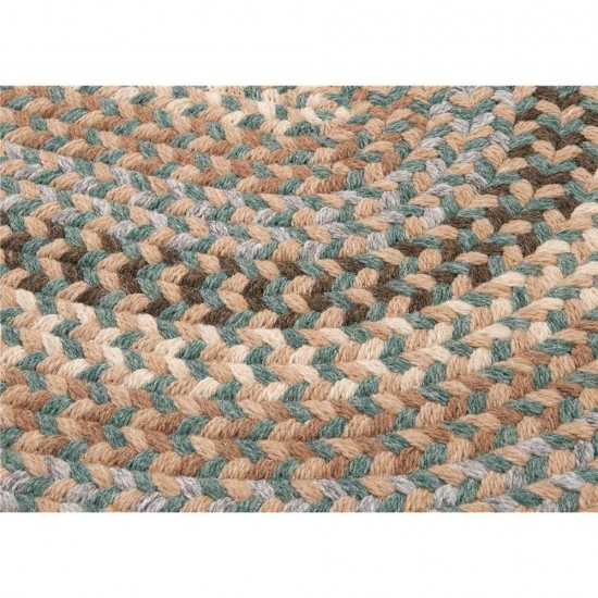 Colonial Mills Rug Boston Common Driftwood Teal Runner (Oval)