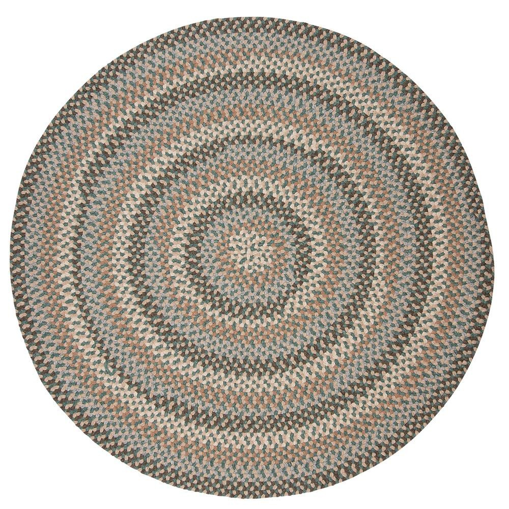 Colonial Mills Rug Boston Common Driftwood Teal Round