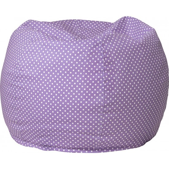 Small Lavender Dot Bean Bag Chair for Kids and Teens