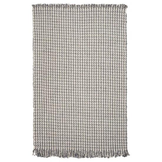 Maui Ivory/Grey Houndstooth 5' x 8' Rug