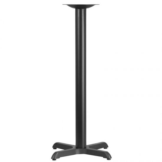 22'' x 22'' Restaurant Table X-Base with 3'' Dia. Bar Height Column