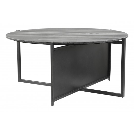 Mcbride Coffee Table Gray & Black