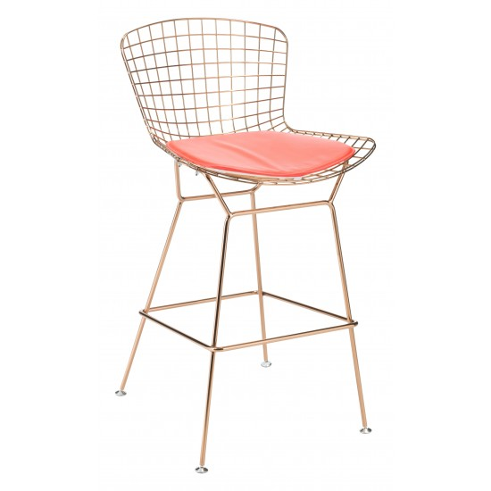 Wire Mesh Cushion Red