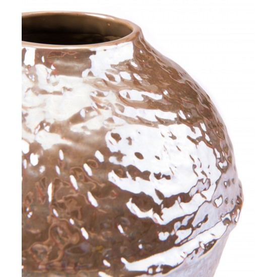 Small Textured Vase Pearl Yellow