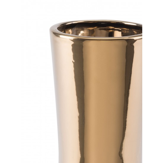 Small Vual Vase Gold