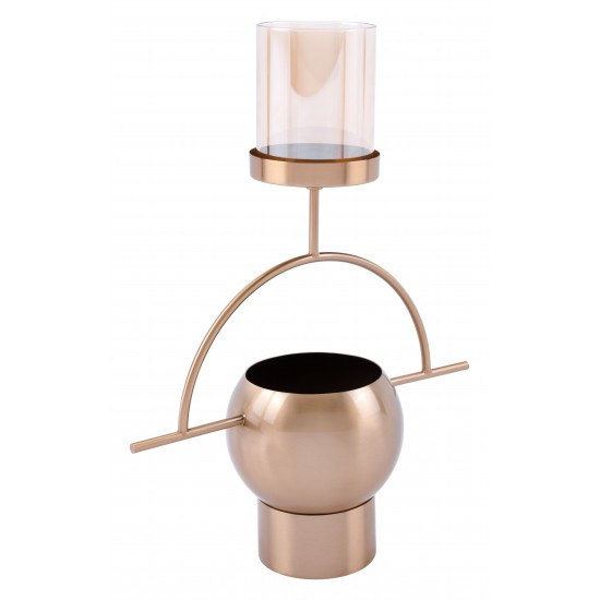 Candle Holder Antique Brass