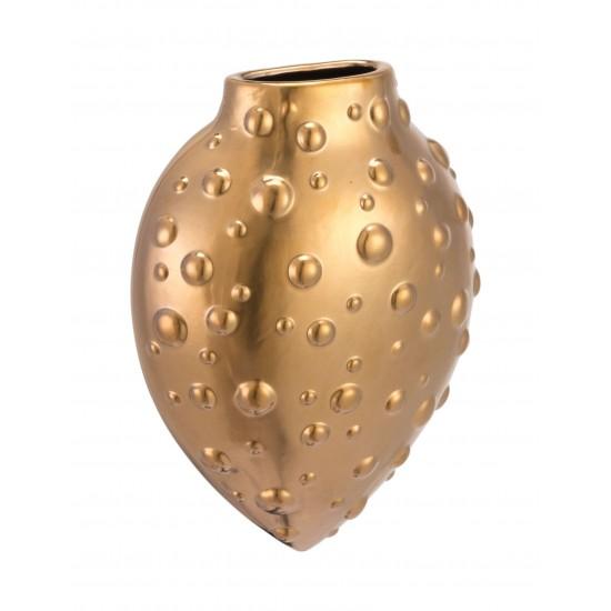 Mini Puntos Wall Vase Matte Gold
