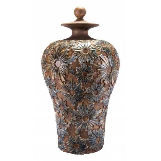 Large Cusco Temple Jar Brown