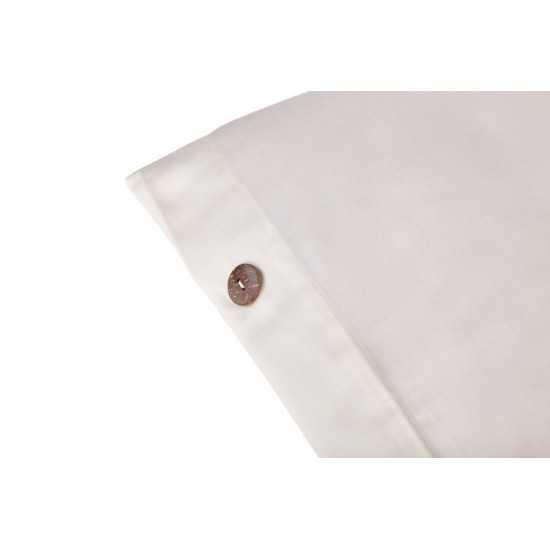 "Sleep & Beyond 100% Organic Cotton Duvet Cover, King 104x92"", White"